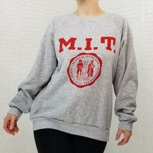 Vintage 1980s Champion M.I.T. grey sweatshirt